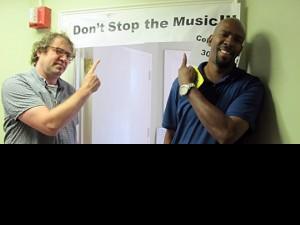 Davis Rogan and Revolution's Emmett Wells visiting 'OZ in 2011.